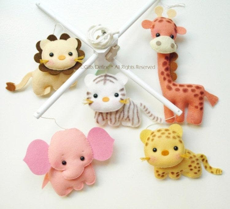 Musical Baby Mobile Safari Fun Animals Jungle Or By