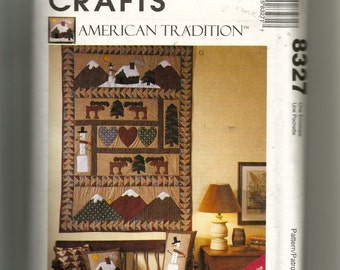 McCall's Pillow, Stockings, and Wall Hanging Pattern 8327