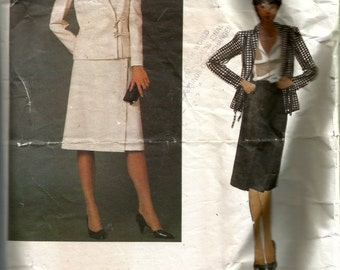 Vogue Misses' Jacket and Skirt by Valentino Pattern 2622