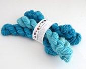 commuter as gradient - eponymous sock (5, 20g mini skeins)