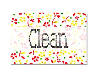 Dishwasher Clean Dirty Magnet Vintage Flour Sack Designs NOW Stainless Steel Option dishwasher magnet flowers cross stitch farm country