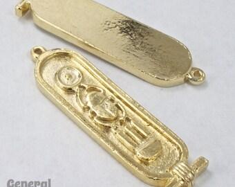 45mm Gold Tone Egyptian Cartouche Charm #3451