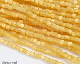 11/0 Satin Topaz 2 Cut Czech Seed Bead (Hank) #CSN080