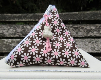 Flowery Cat Menstrual Cup Pouch