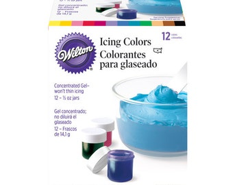 WIlton 12 pc Icing Color set. 1/2 ounce jars!
