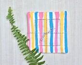 Linen Cocktail Coasters | Watercolor Stripe | set of 4