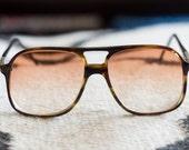 Vintage Mens Eyeglasses Crossbar Hipster Glasses