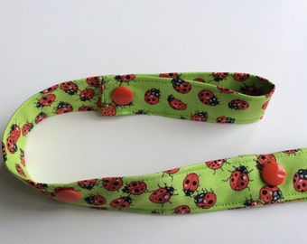LADYBUGS - Toy Tether - Toy Leash - Toy Strap - Sippy Cup Tether - Soother Tether - Baby Toddler Gift - Shower Gift - Under 10 dollars