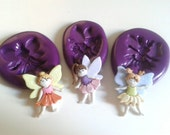 3 Fairy Girl Silicone Molds Moulds 35mm - Kitsch Kawaii DiY Polymer Clay Sugarpaste Fimo Icing chocolate Fondant