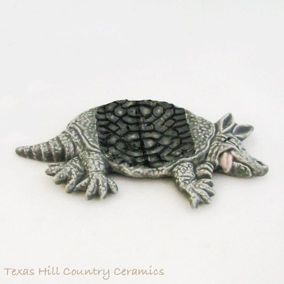 Armadillo Road Kill Texas Icon Tea Bag Holder Desk Accessory Authentic Texas Made