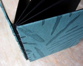 Black page Guest Book Journal 7x7 Funky Turquoise - Ready to Ship