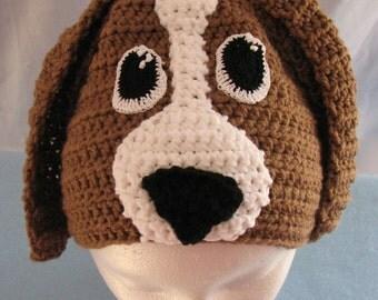 Crochet Pattern - Basset Hound Dog Hat - Animal Hat - Dad Hat - Dog Lovers Gift - Women's Gift - Dog Theme Gifts - PDF - Digital Download