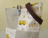 Child's Linen School Tote Bag