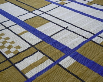 Queen-Sized Modern Quilt Abstraction