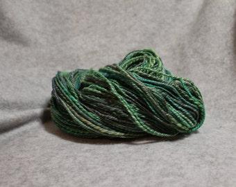Lagoon hand dyed handspun yarn