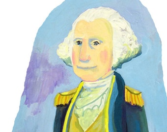 Ode to George Washington ... fine art print ... U.S. Presidential painting series