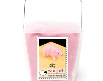 Pig Needle Felting Kit