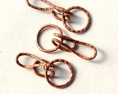 Hooked / Handmade Copper Hook and Eye Clasp / made when ordered