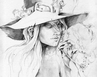 Smoking Giantess  // Faerie / Fantasy Art Print