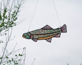 Stained Glass Trout - Cutthroat Trout - Idaho State Fish Sun Catcher - Fishing Gift