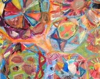 Wheel of life #1, Original 8x8 inch Canvas - 30% OFF