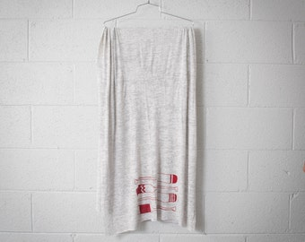 Paddle Jersey Scarf- Light Heather Grey/Red