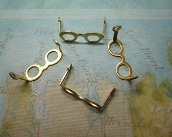 Tiny Eyeglass Frames Doll Charms Brass Supplies on Etsy x Quantity Choice
