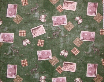 The Great Outdoors Snuggle Flannel Fabric - 1 yard and 8 inches