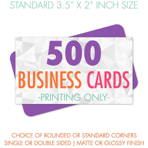 500 Business Cards Printed Premium Business Card Printing