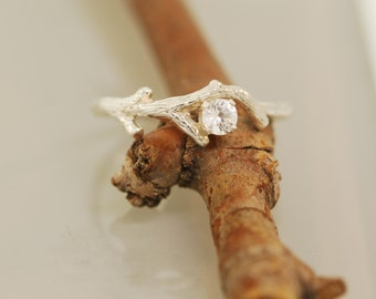 Bud Branch with White Sapphire