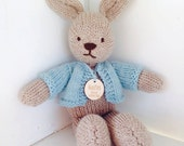 Organic Natural Toy Bunny Rabbit Peter Rabbit Stuffed Animal Custom Order