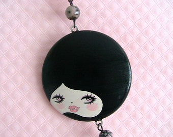 Eve Doll Face Necklace