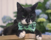 Nautical Whale Print Bow Tie for Cats