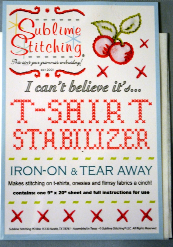 Sublime stitching t shirt stabilizer