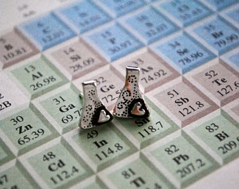 Erlenmeyer Flask Earrings Studs