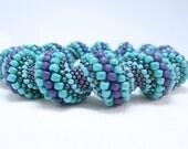 Summertime Blues Cellini Spiral Beadwoven Bracelet