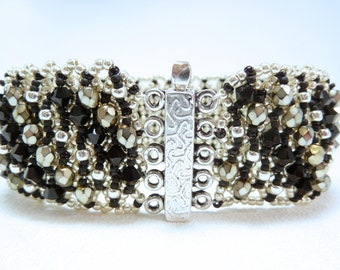 Bold Move Beadwoven Cuff Bracelet
