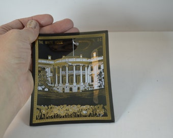 vintage 1960s White House souvenir collectible glass ashtray