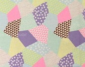 Japanese Fabric Kokka Trefle-L neon patch - B - 50cm