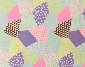 Japanese Fabric Kokka Trefle-L neon patch - B - fat quarter