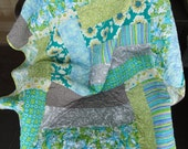 """Hello June Modern Lap Quilt -  49"""" x 64"""" - RESERVED LISTING"""