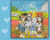 CAT SPOON REST - Cat Tile - Cat Trivet - Cat Hot Plate   Wizard of Pawz - Wizard of Paws - Wizard of Oz Parody - Cat Hanging Sign