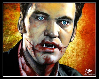 "Print 11x14"" - Richie Rising - From Dusk Till Dawn Quentin Tarantino Vampire Dark Art 90s Horror Lowbrow Pop Blood Comedy Richard Gecko"
