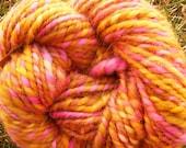 ROSE GOLD Handspun Wool Yarn 58yds 3.6oz Corriedale Art Yarn Knitting Bulky Aspenmoonarts