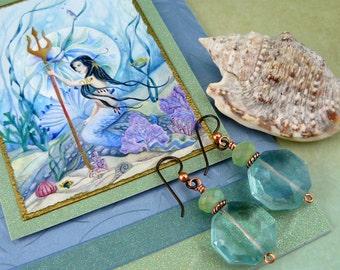 Greeting Card ~ Mermaid Art Card ~ Watercolor Fantasy Art ~ Art Greeting Card ~ Watercolor Fairy Card ~ Fairy Card ~ Watercolor Card
