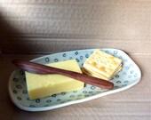 Spot stoneware platter