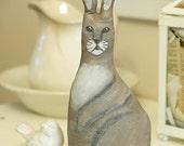 Antique Style Folk Art Primitive Cloth Rabbit Bunny, rabbit A