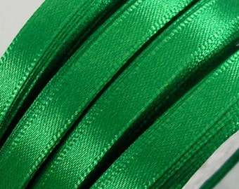 "Satin Ribbon CLOSEOUT SALE  (R47A)1/4"" Emerald Green - 25 yard Spool for Crafts DIY Wedding Ribbon Wands Streamers Party Decor"