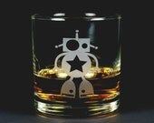Robot Lowball Glass for whiskey