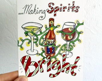 Making Spirits Bright - Blank Card